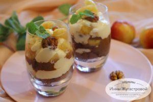 Десерт пятиминутка, фруктовый трайфл