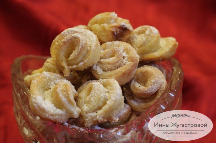 Творожное печенье Розы