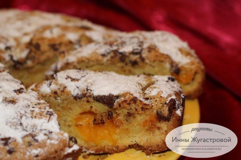 Ароматный мандариновый пирог с шоколадной крошкой и цедрой