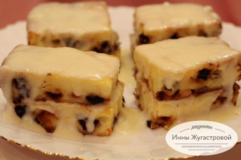 Творожный десерт на манке с сухофруктами в духовке