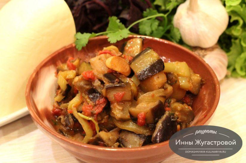 Аджапсандали по-грузински из сезонных овощей