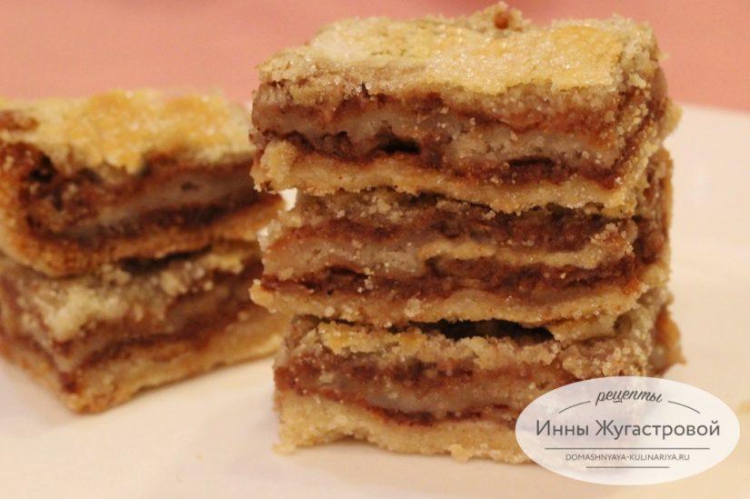 Яблочный насыпной пирог на Яблочный Спас, самый простой рецепт