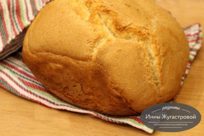 Простой белый хлеб в хлебопечке, 500 граммовая буханка