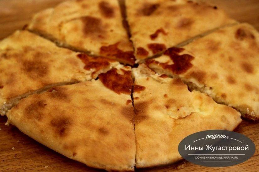 Пирог с сыром и творогом в духовке по мотивам хачапури