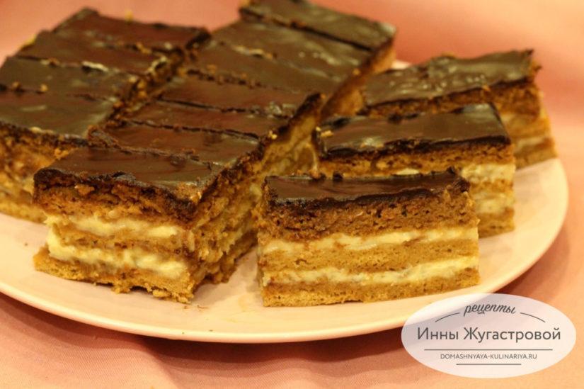 Торт Баттерфляй, медовик, похожий на конфеты с орехами