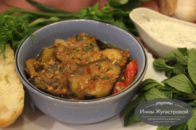 Мусаха кавказская, соус из баклажанов с мясным фаршем