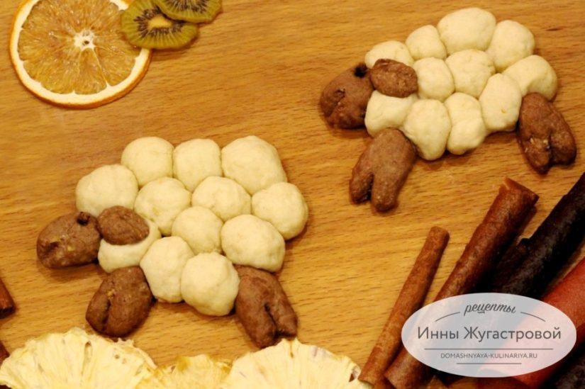 Печенье Овечки, сливочно-шоколадное песочное печенье для детей