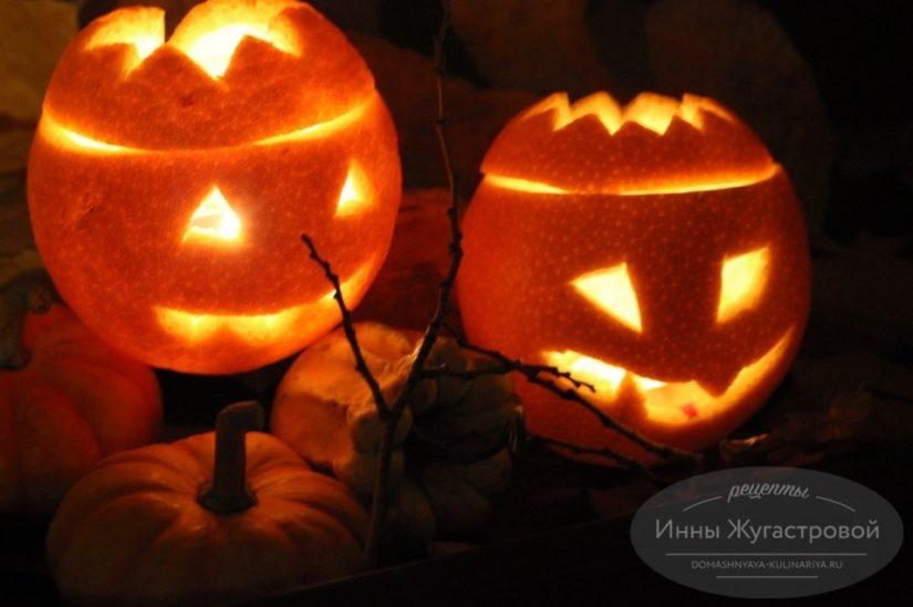 Как сделать «Фонарь Джека» на Хэллоуин из апельсина, простая инструкция