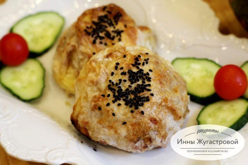 Колобки с овощной начинкой из лаваша. Оригинальная закуска