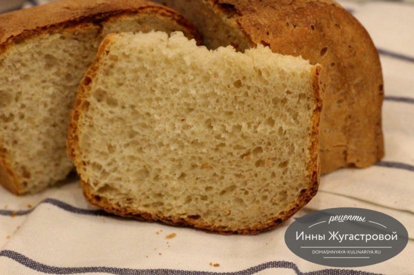 Простой белый хлеб на каждый день в хлебопечке, получается всегда. 500 грамм