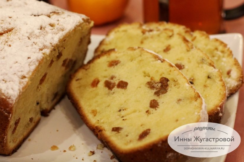Творожный кекс с изюмом в хлебопечке