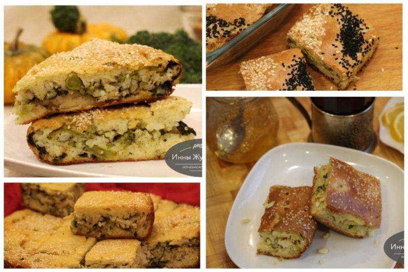 Наливные (заливные) пироги. Быстрые простые рецепты закусочных пирогов