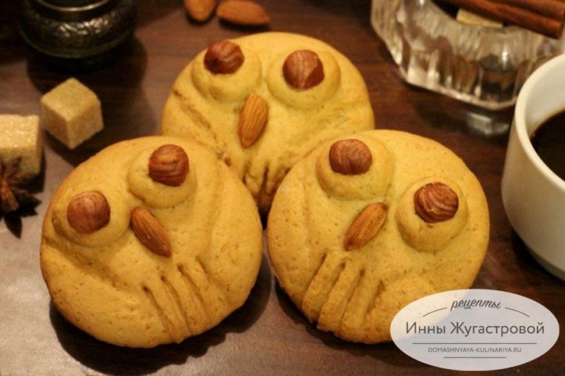 Совята. Медовые пряники (медовое печенье) с орехами, лимонной цедрой и розмарином