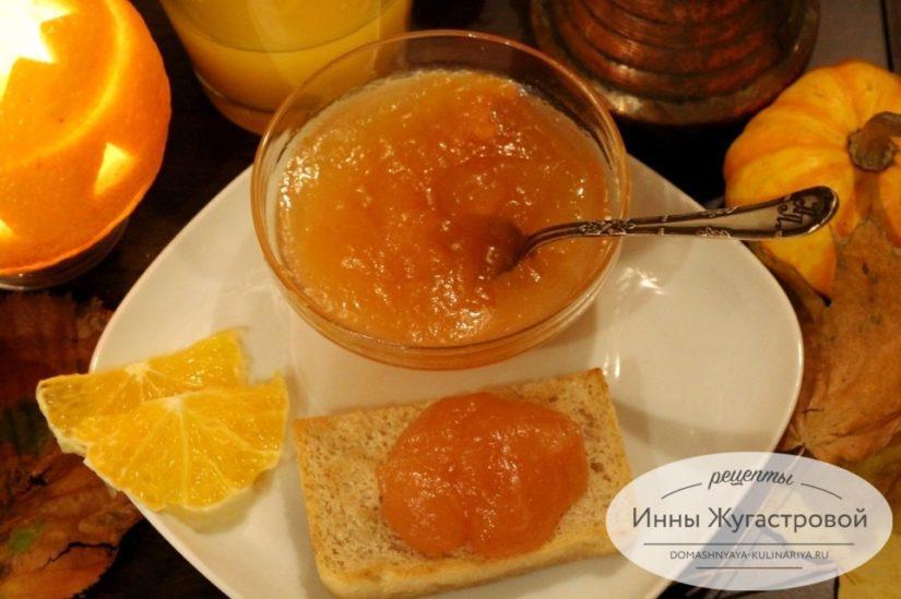 Яблочный джем с апельсинами (конфитюр), консервирование на зиму