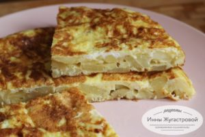 Картофельная тортилья по-испански - рецепт пошаговый с фото