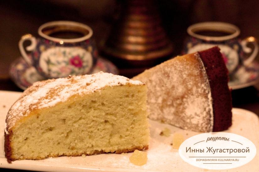 Лимонный кекс Нежный на бисквитном тесте с лимонным сиропом