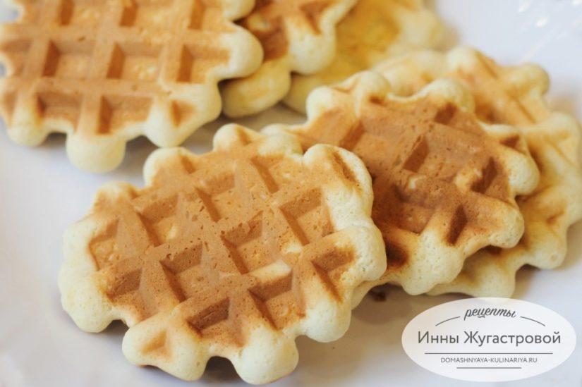 Бисквитные вафли в электровафельнице (мультипекаре Редмонд)
