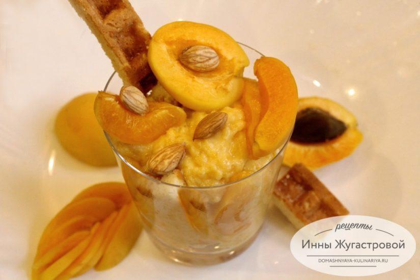 Абрикосовый десерт без выпечки с абрикосовым заварным кремом