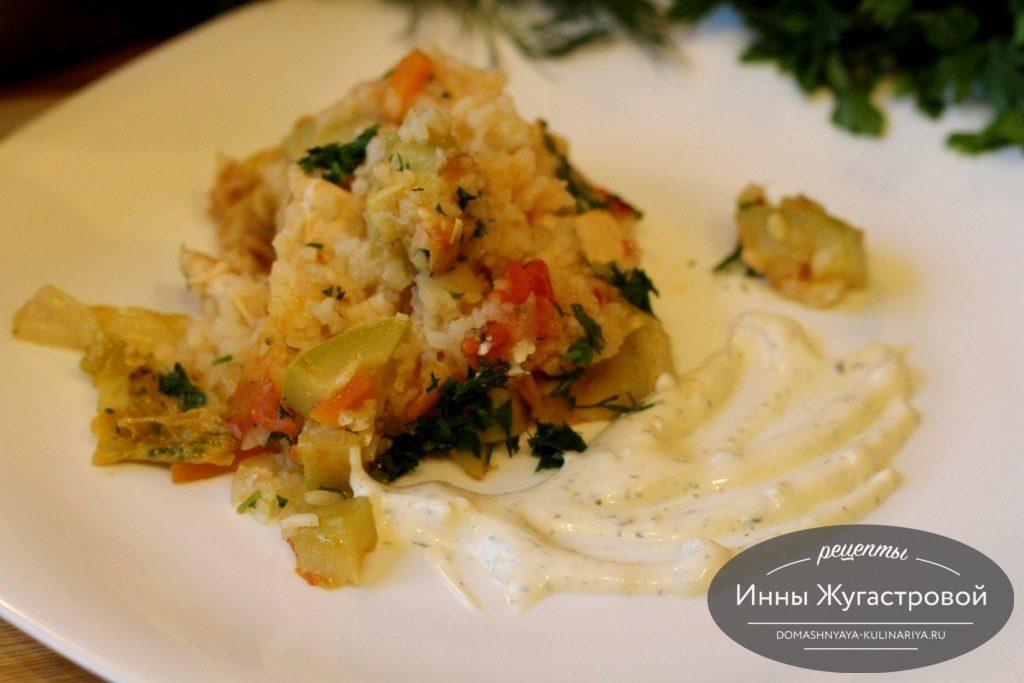 Рагу из риса, овощей и мяса
