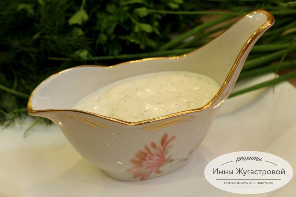 Белый соус из сметаны и майонеза