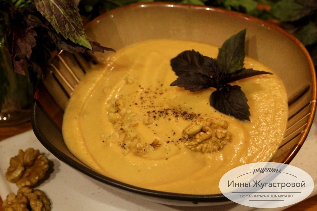Баклажанный суп-пюре