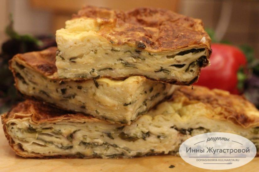 Ленивая ачма из тонкого лаваша, закусочный пирог на скорую руку
