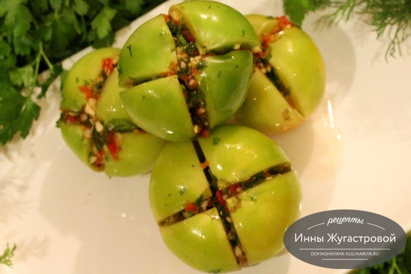 Квашеные (соленые) зеленые помидоры