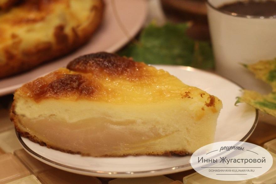 Творожный сырник с грушей