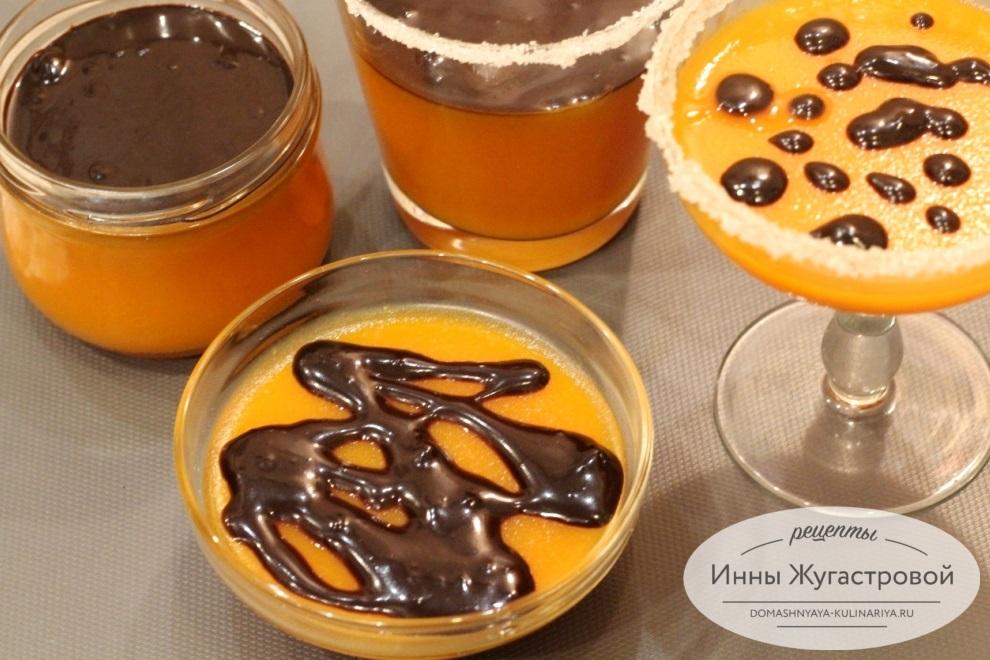 Тыквенно-апельсиновое еле с шоколадом