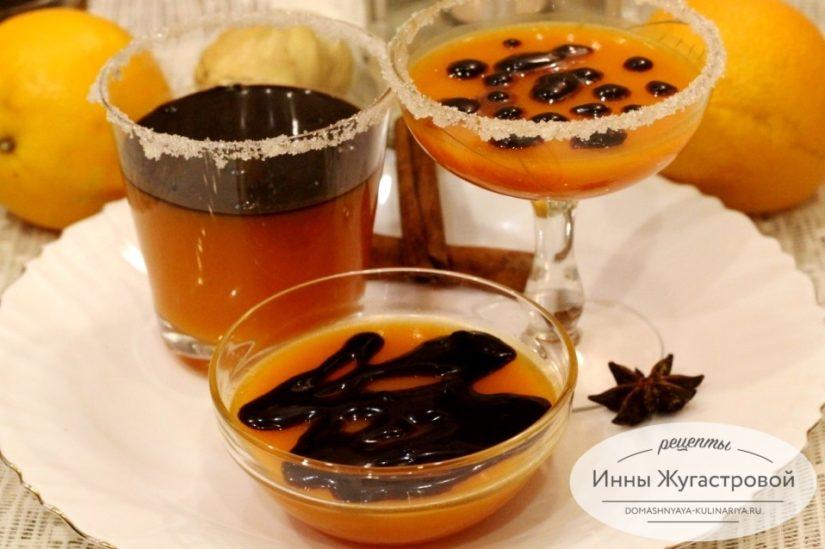 Тыквенно-апельсиновое желе с шоколадом