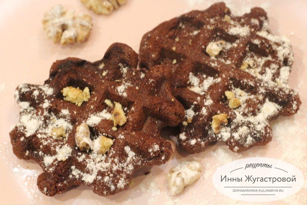 Шоколадные вафли брауни