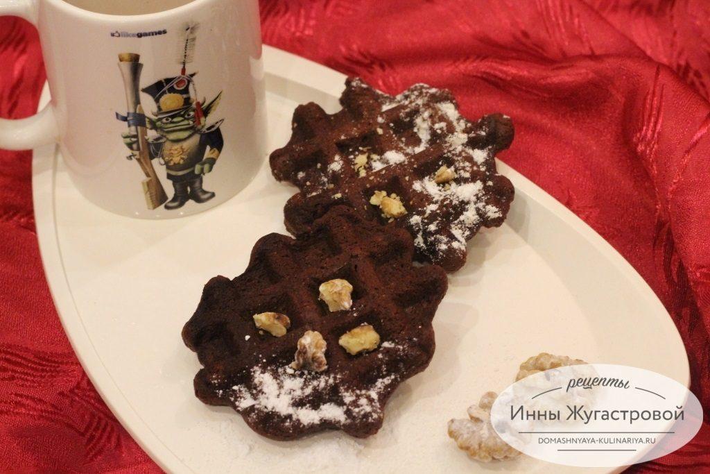 Сливочные шоколадные вафли