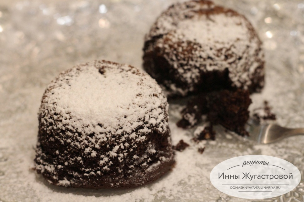 Шоколадное суфле из горького шоколада