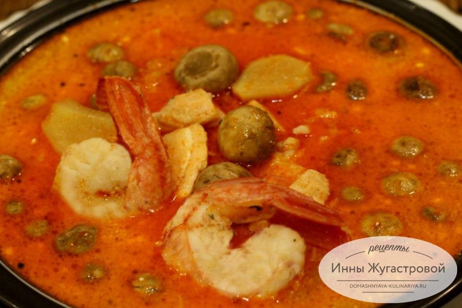 Суп Том Ям с лангустинами