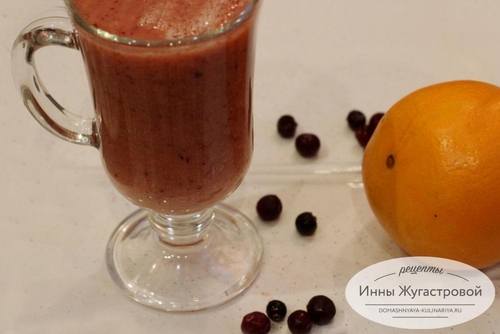 Клюквенно-апельсиновый смузи
