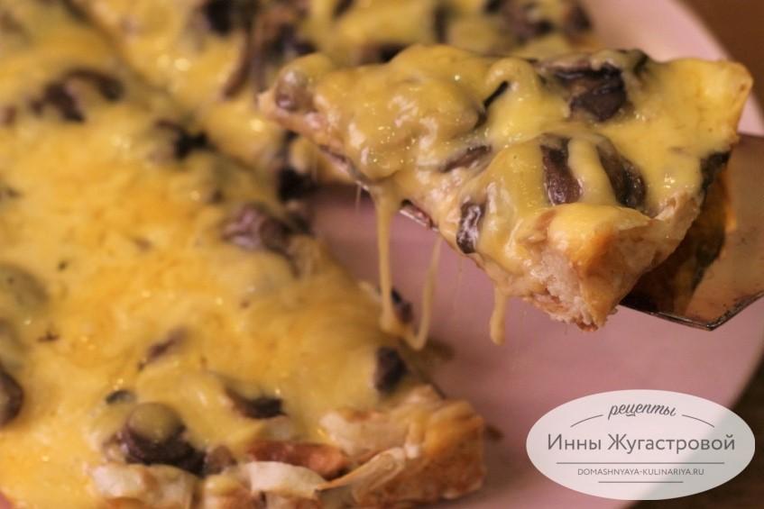 Ленивая грибная пицца