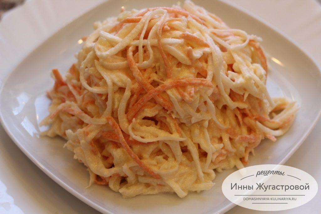 Салат из дайкона с морковкой