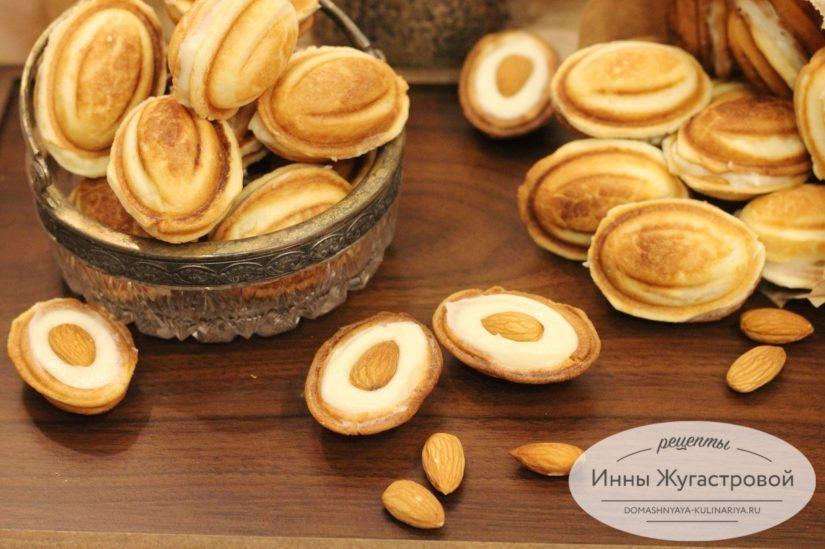 Орешки в мультипекаре с кремом пломбир, нежный изысканный десерт