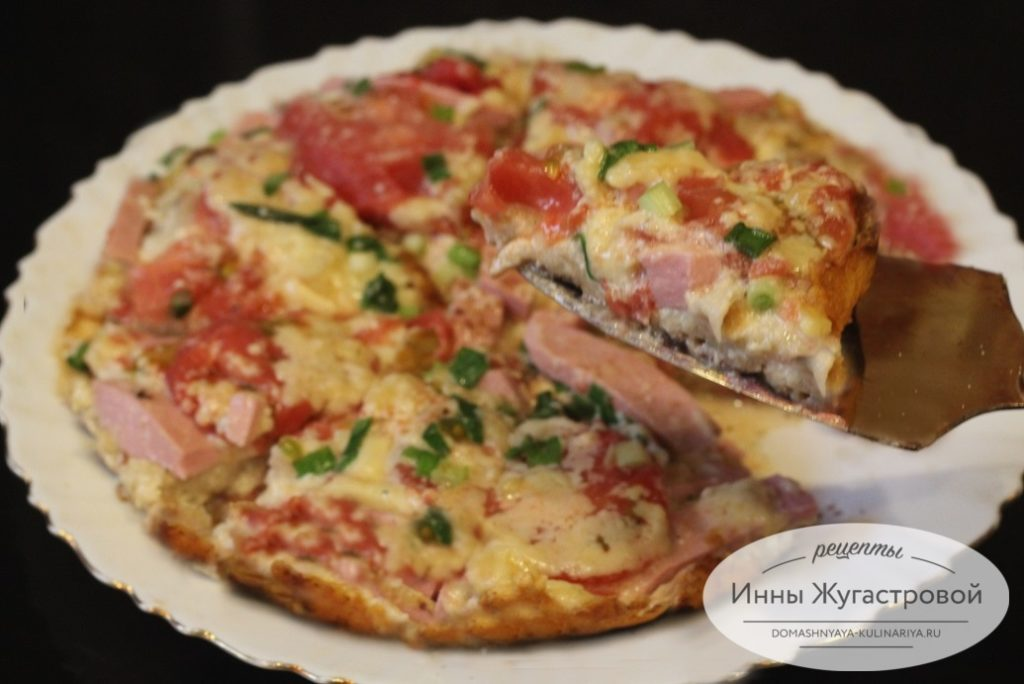 Быстрая пицца на сковороде из лаваша по простому рецепту