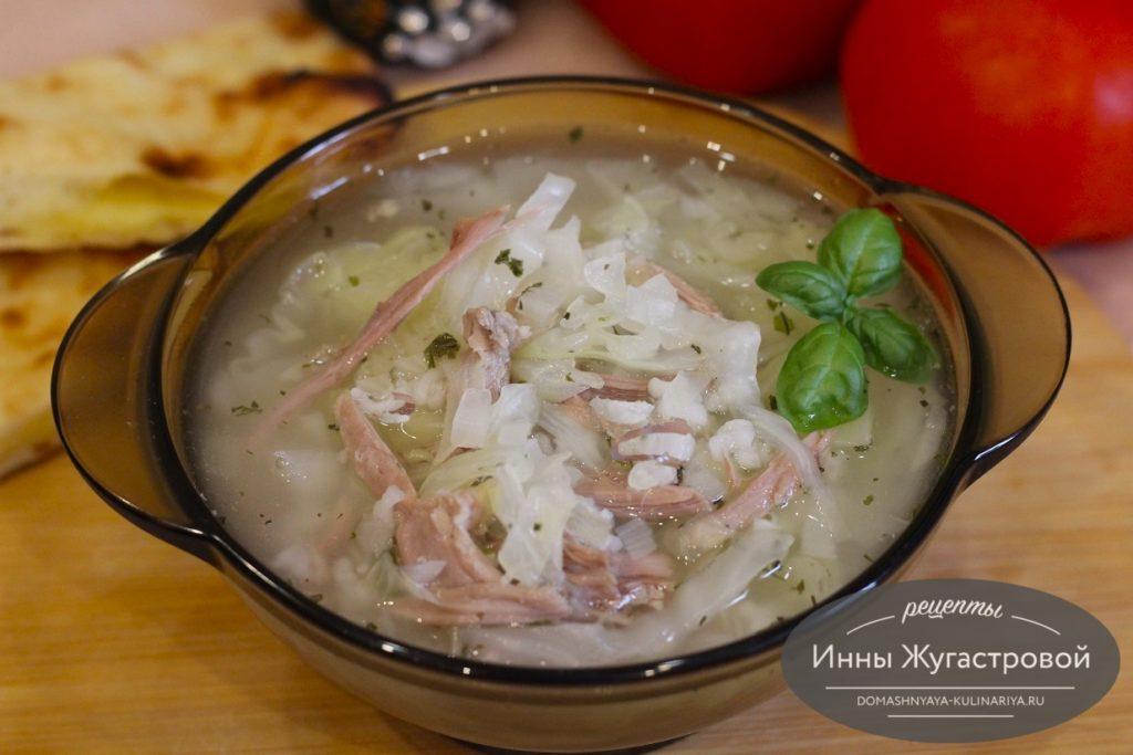 Индюшиный суп с рисом и капустой
