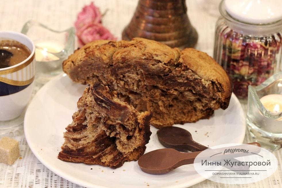 Шоколадная бриошь в хлебопечке Мулинекс