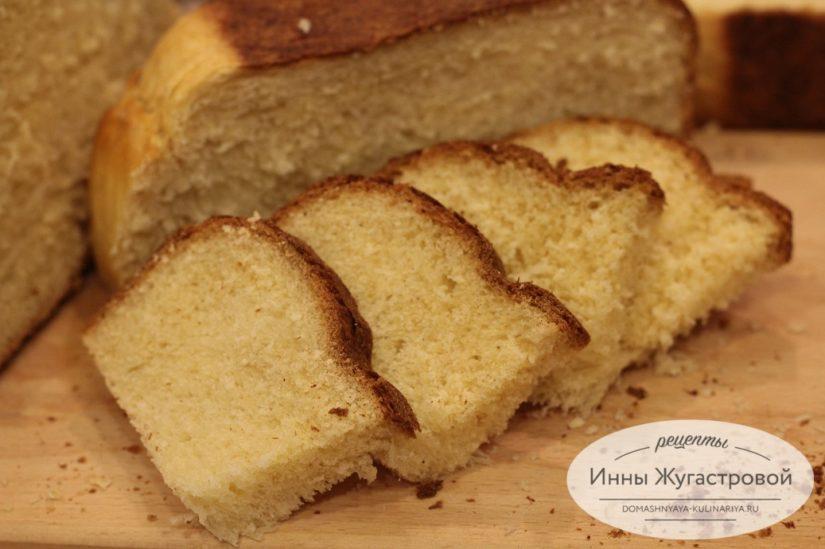 Сладкий сдобный дрожжевой хлеб (бриошь) в хлебопечке Мулинекс