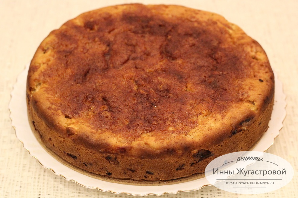 Пирог с яблоками на кефире без яиц